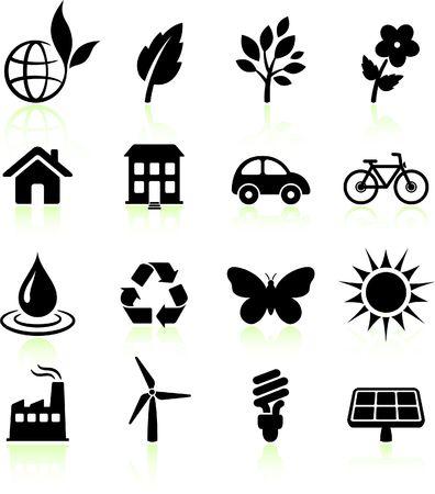 Original  illustration: environment elements icon set Stock Illustration - 6602784