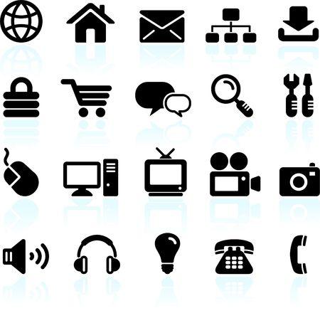 Original  illustration: internet design icon set