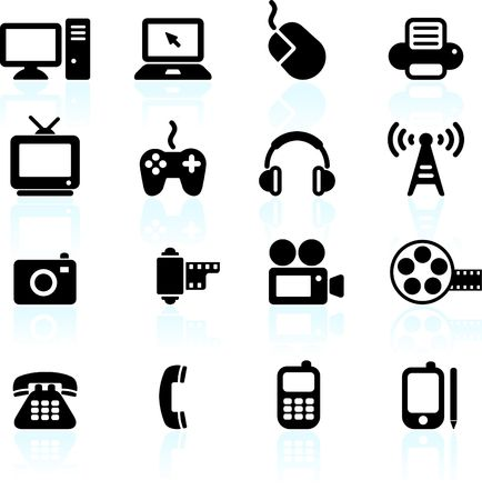 Original  illustration: technology and communication design elements Stock Photo