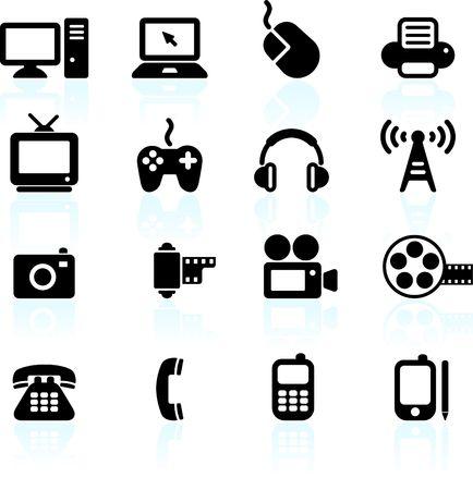 Original  illustration: technology and communication design elements Standard-Bild