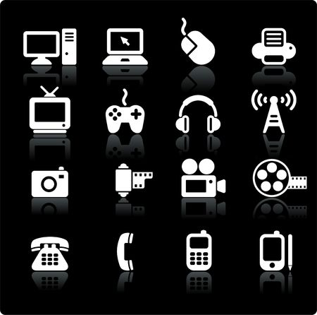 Original illustration: technology and communication design elements illustration