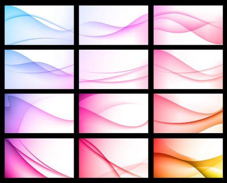 Abstract Color Background Set Original  Illustration illustration