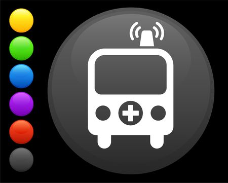 ambulance icon on round internet button original  illustration 6 color versions included  illustration