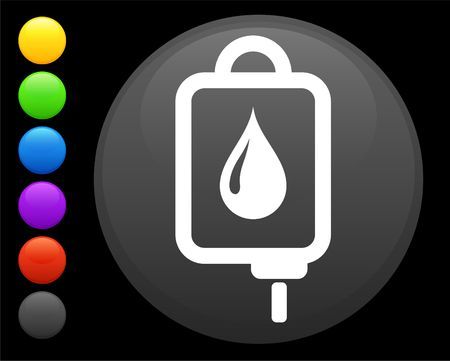 Intravenous therapy icon on round internet button original illustration 6 color versions included