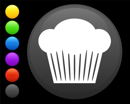 muffin icon on round internet button original  illustration 6 color versions included  illustration