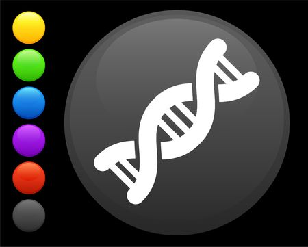 DNA icon on round internet button original illustration 6 color versions included  illustration