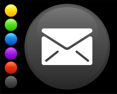 envelope icon on round internet button original  illustration 6 color versions included