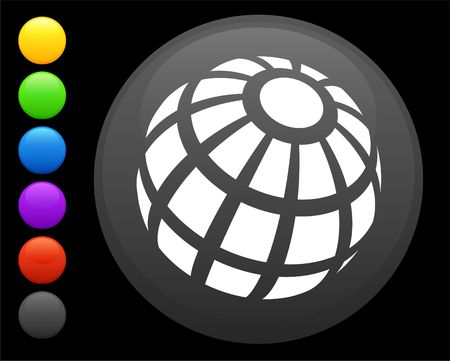shere: globe icon on round internet button original  illustration 6 color versions included