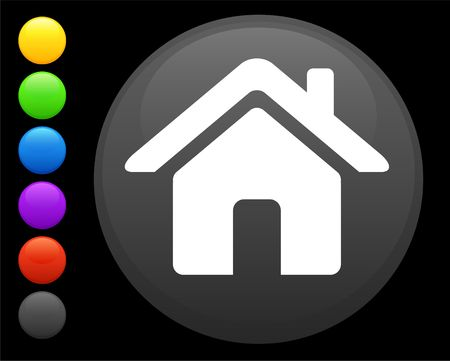 house icon on round internet button original  illustration 6 color versions included  illustration