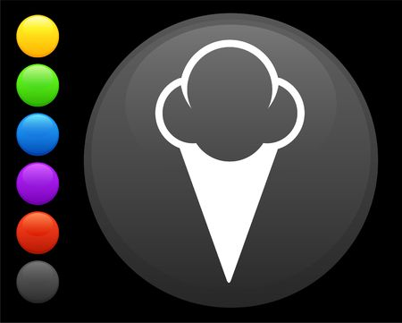 ice cream icon on round internet button original  illustration 6 color versions included Stock Illustration - 6617437