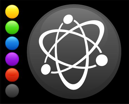 atom icon on round internet button original illustration 6 color versions included  illustration