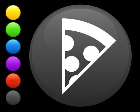 expensive food: pizza icon on round internet button original  illustration 6 color versions included  Stock Photo