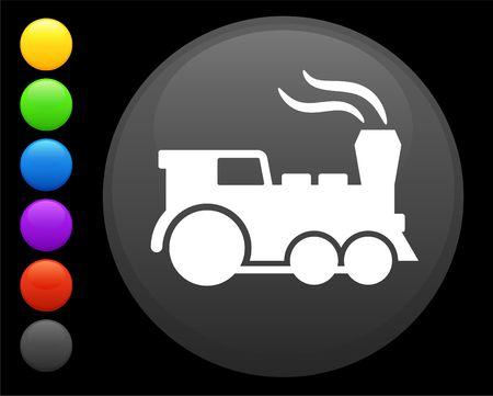 train icon on round internet button original illustration 6 color versions included  Фото со стока