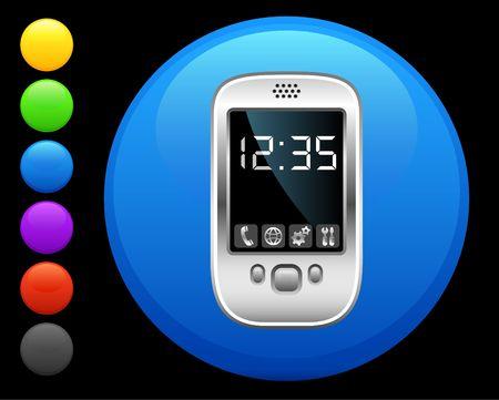 organizer icon on round internet button original  illustration 6 color versions included  Stock Illustration - 6616644