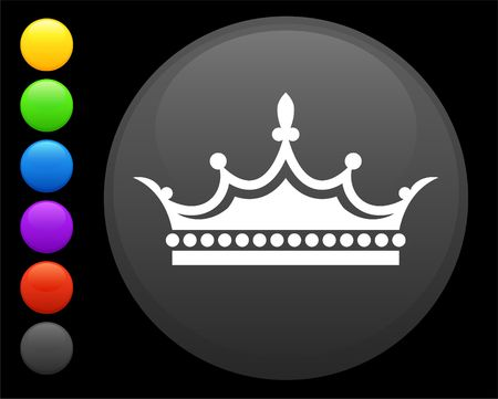 crown icon on round internet button original illustration 6 color versions included  illustration