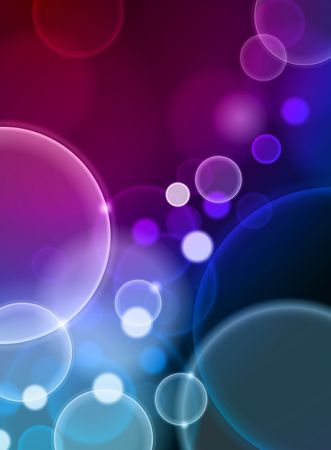 Bubble Abstract Color Background Original  Illustration Stock Photo