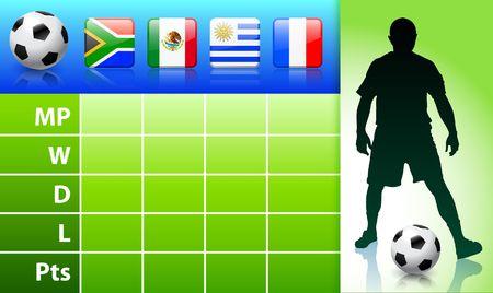 SoccerFootball Group A Original Illustration illustration