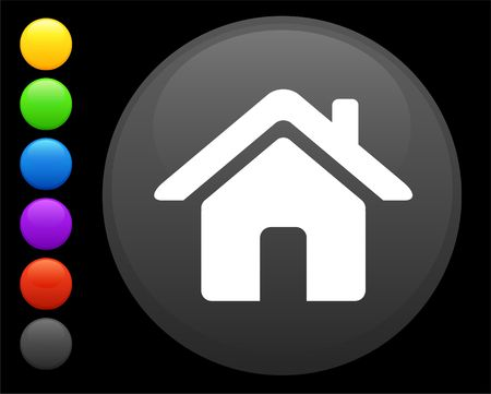 preservation: house icon on round internet button original  illustration 6 color versions included