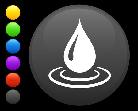 preservation: rain drop icon on round internet button original illustration 6 color versions included
