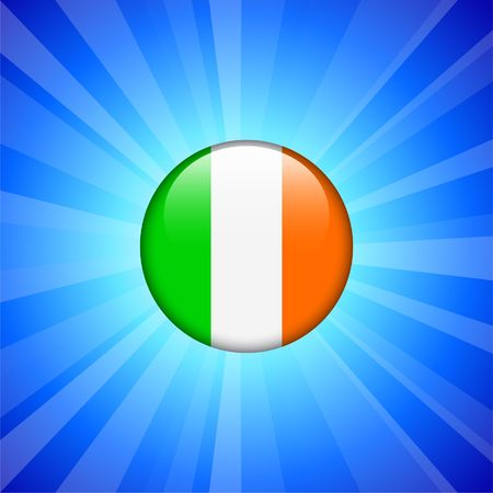 ireland flag: Ireland Flag Icon on Internet Button Original  Illustration