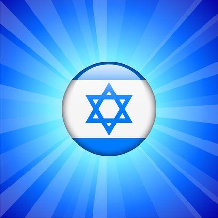 인터넷 단추 원래 그림에 이스라엘 플래그 아이콘