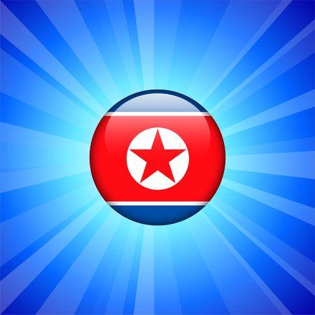 Korea Flag Icon on Internet Button Original  Illustration