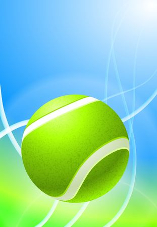 backhand: Tennis Ball on Abstract Background Original Illustration