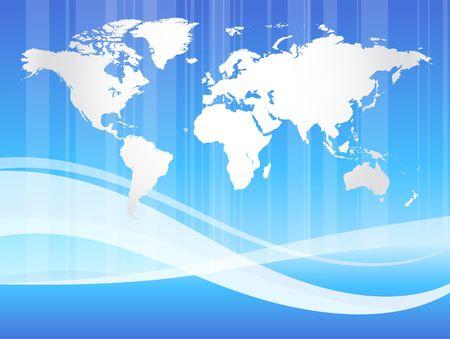 Abstract World Map Original Illustration Stock Photo