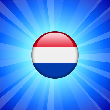 the netherlands: Netherlands Flag Icon on Internet Button Original  Illustration