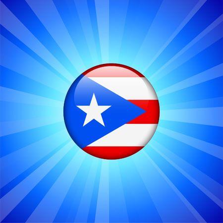 bandera de puerto rico: Icono de bandera de Puerto Rico en la ilustraci�n original de bot�n de Internet