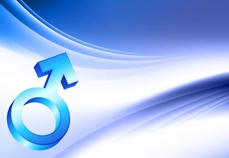 male symbol: Male Symbol on Abstract Color Background Original  Illustration Stock Photo