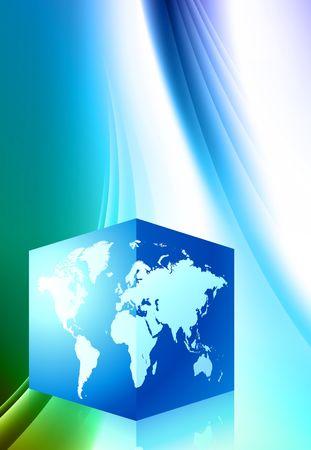 Square Globe Abstract Color Background Original Illustration illustration