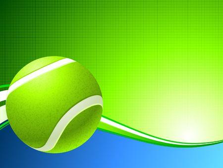Tennis Ball on Abstract Background Original Illustration