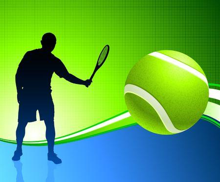 wimbledon: Tennis Player on Abstract Background Original  Illustration Stock Photo