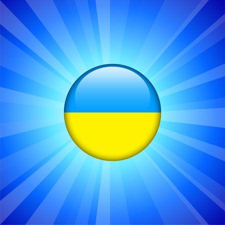 インター ネット ボタン オリジナル イラストでウクライナの旗のアイコン