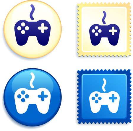 Controller Stamp and Button Original Illustration Buttons Collection illustration