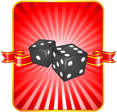 Black Dice on Background Original  Illustration Dice Ideal for Game Concept Stock Illustration - 6619445