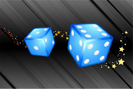 Blue Dice Background Original Illustration Dice Ideal for Game Concept Stock Illustration - 6619352