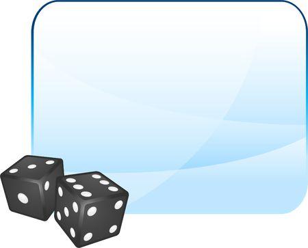 Black Dice on Blank Background Original Illustration Dice Ideal for Game Concept Stock Illustration - 6619272