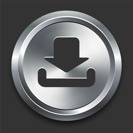 다운로드 금속 인터넷 단추 원래 그림에 아이콘