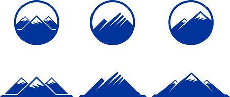 Mountain Icons Original  Illustration Nsture Concept Stock Photo