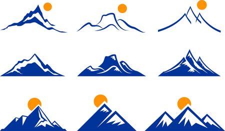 Mountain Icons Original Illustration Nature Concept