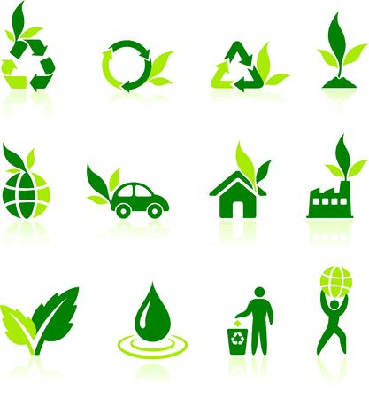preservation: Green Nature Icons Original Illustration Green Nature Concept
