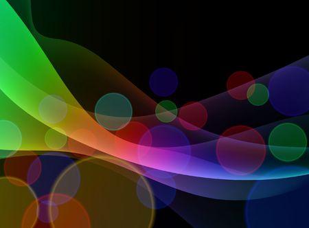 Colorful Abstract Floral Wave Background Original Illustration  illustration