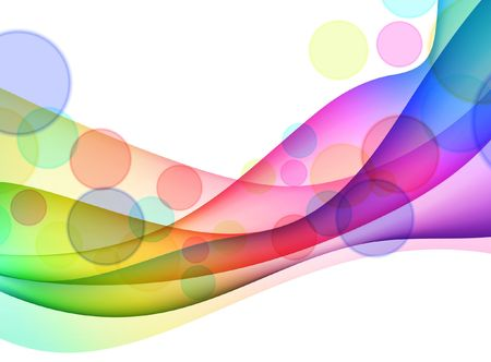 Colorful Abstract Wave Background Original  Illustration