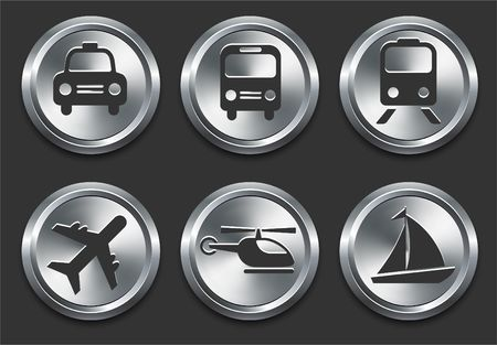 Transportation Icon on Metal Internet Button Original  Illustration illustration