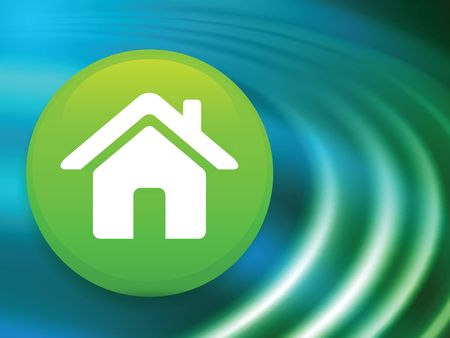 House Button on Abstract Liquid Wave Background  Stock fotó