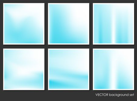 Fluid Aurora on Colorful Abstract Background Set Original Illustration