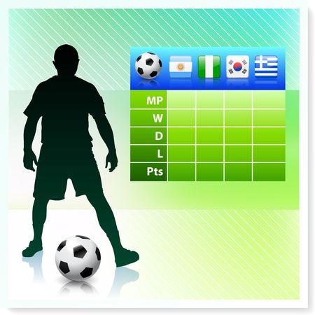 bracket chart: SoccerFootball Group B Stock Photo