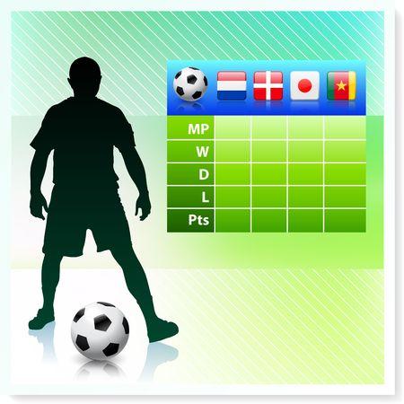 bracket chart: SoccerFootball Group E Stock Photo